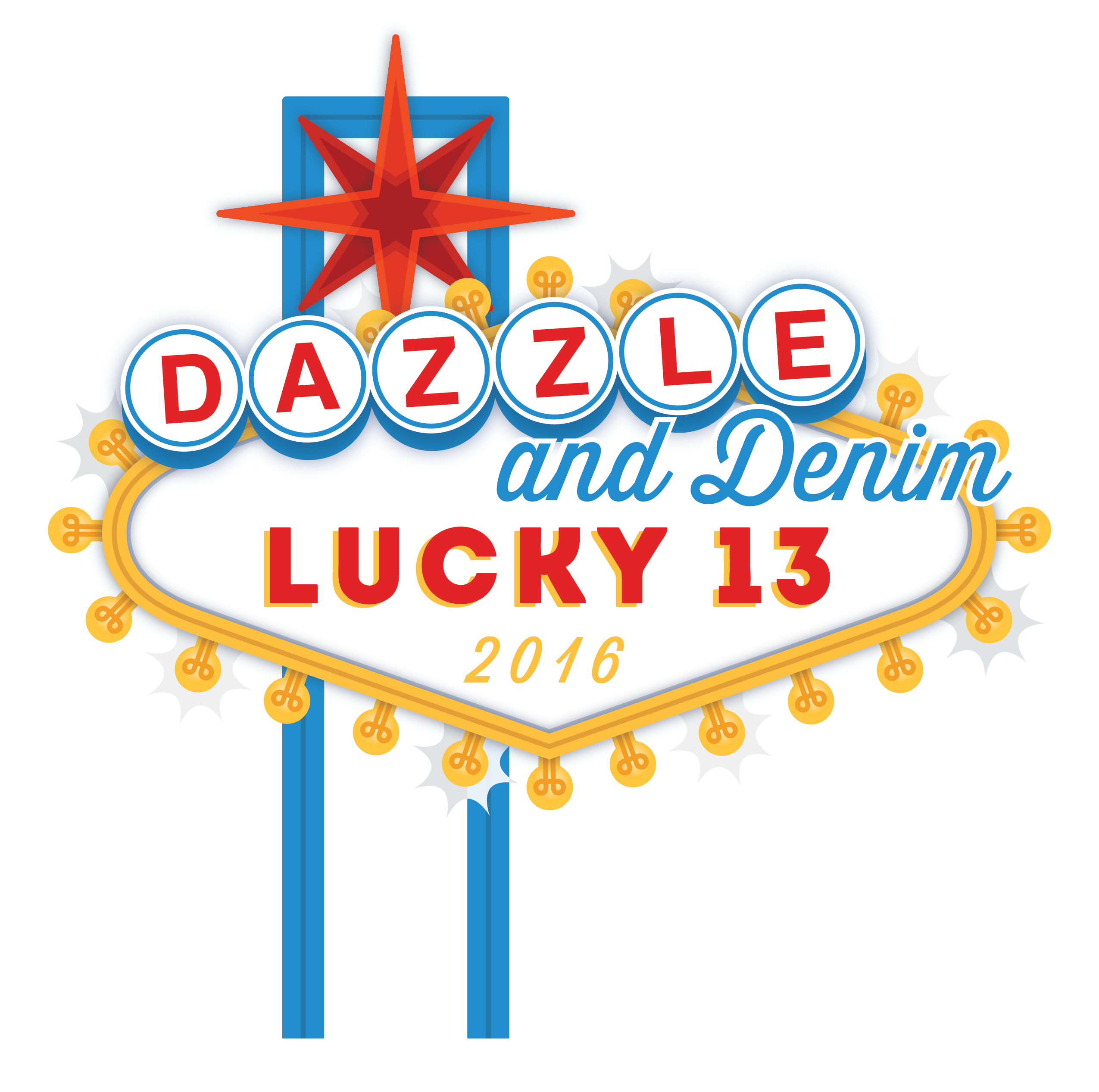 Dazzle & Denim - Lucky 13 Logo [transp bg - large]