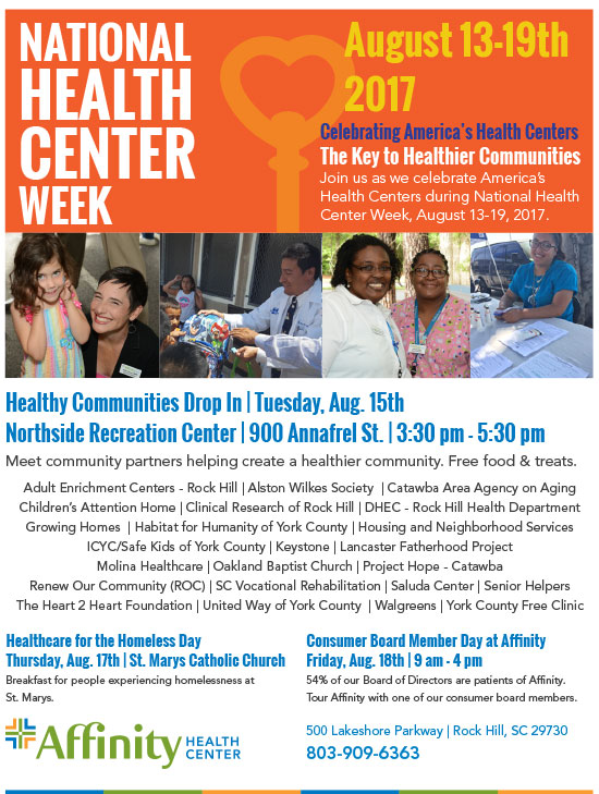 Image of National Health Center Week Flier